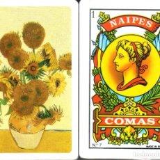Barajas de cartas: LOS GIRASOLES - VAN GOGH - BARAJA ESPAÑOLA DE 40 CARTAS. Lote 225038410