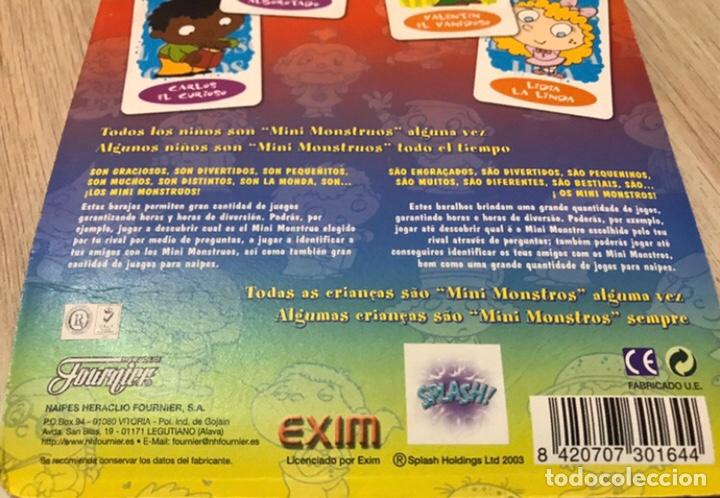 Barajas de cartas: DOS BARAJAS JUEGO DE NAIPES - LOS MINI MOUSTROS DE FOURNIER - Foto 5 - 225168995