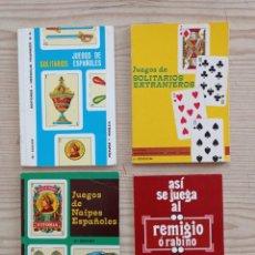 Jeux de cartes: 4 LIBROS JUEGOS DE CARTAS. Lote 225193413