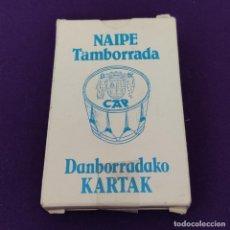 Barajas de cartas: BARAJA DE CARTAS ESPAÑOLA. NAIPE TAMBORRADA. CAJA DE AHORROS PROVINCIAL DE GUIPUZCOA. SIN USAR.. Lote 225303122