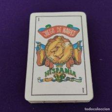 Barajas de cartas: BARAJA DE CARTAS ESPAÑOLA. JUEGO DE NAIPES HISPANIA. CARICATURAS. FALTA EL DOS DE OROS.. Lote 225303985