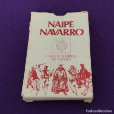 Barajas de cartas: BARAJA DE CARTAS ESPAÑOLA. NAIPE NAVARRO. CAJA DE AHORROS DE NAVARRA. COMPLETA.. Lote 225304270