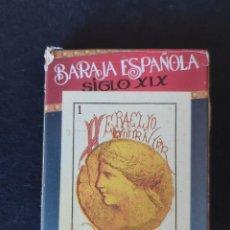 Barajas de cartas: BARAJA ESPAÑOLA SIGLO XIX (REPRODUCCION). Lote 225379955