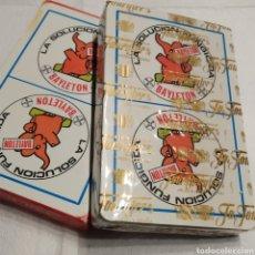Barajas de cartas: BARAJA ESPAÑOLA, NAIPES HERACLIO FOURNIER, 50 CARTAS, PUBLICIDAD BAYLETON DE BAYER - PRECINTADA. Lote 225387900