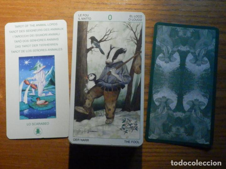 Barajas de cartas: BARAJA - TAROT de los Señores Animales - 78 CARTAS - NAIPES - LO SCARABEO - NUEVA - Foto 3 - 225632025