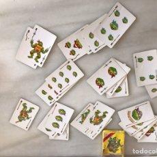 Barajas de cartas: CARTAS TORTUGAS NINJA (INCOMPLETAS). Lote 225813345