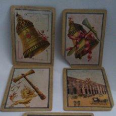 Barajas de cartas: 5 CARTAS ANTIGUAS .SIGLO XIX ?. Lote 226150421