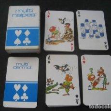 Barajas de cartas: BARAJA POKER. NAIPES MULTI DERMOL. AÑO 1985. Lote 226279625