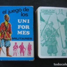 Jeux de cartes: BARAJA INFANTIL UNIFORMES MILITARES. EDICIONES RECREATIVAS 1970. Lote 226282220