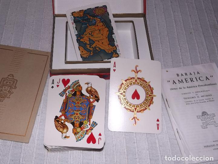 Barajas de cartas: BARAJA DE POKER, AMERICA PRECOLOMBINA, DIBUJOS Y DESCRIPCION T.N.MICIANO - Foto 3 - 226386615