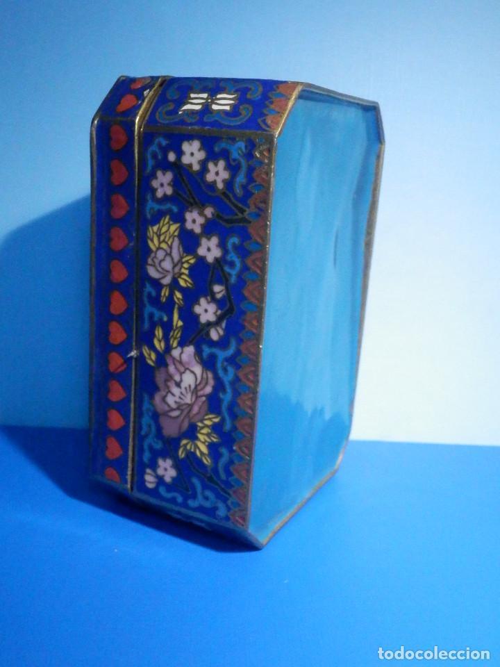 Barajas de cartas: Preciosa caja metálica para Baraja de Cartas - Esmaltada al horno por dentro y fuera - Muy bonita - Foto 3 - 226395790
