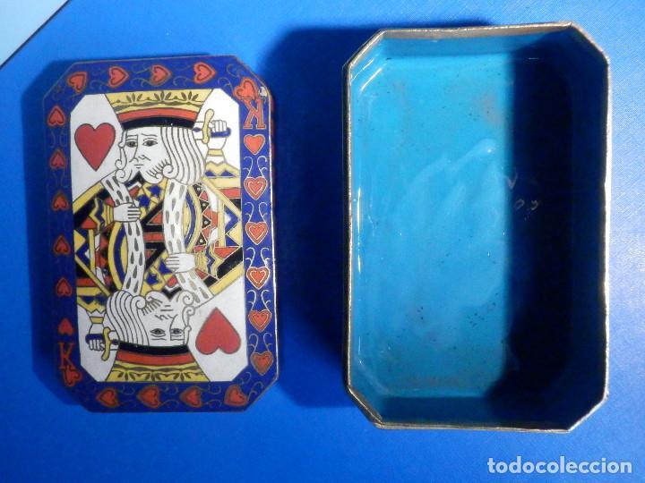 Barajas de cartas: Preciosa caja metálica para Baraja de Cartas - Esmaltada al horno por dentro y fuera - Muy bonita - Foto 5 - 226395790