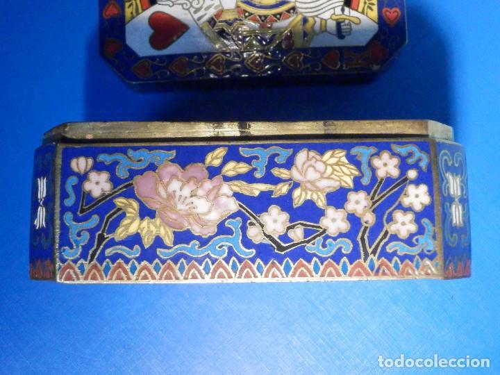 Barajas de cartas: Preciosa caja metálica para Baraja de Cartas - Esmaltada al horno por dentro y fuera - Muy bonita - Foto 6 - 226395790