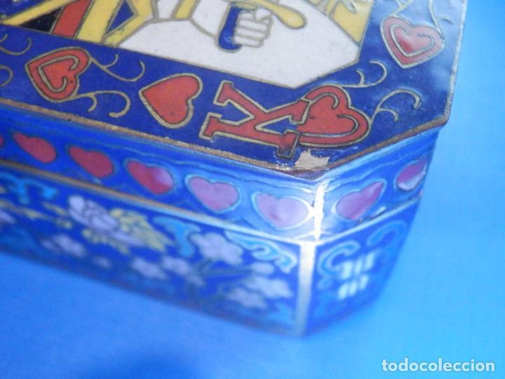 Barajas de cartas: Preciosa caja metálica para Baraja de Cartas - Esmaltada al horno por dentro y fuera - Muy bonita - Foto 14 - 226395790