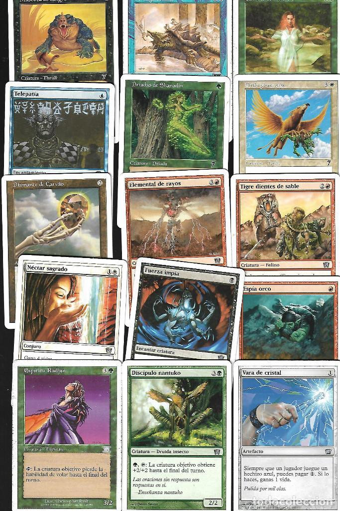 Barajas de cartas: OPORTUNIDAD 100 CARTAS MAGIC DISTINTAS LOTE 1 - Foto 3 - 20062509