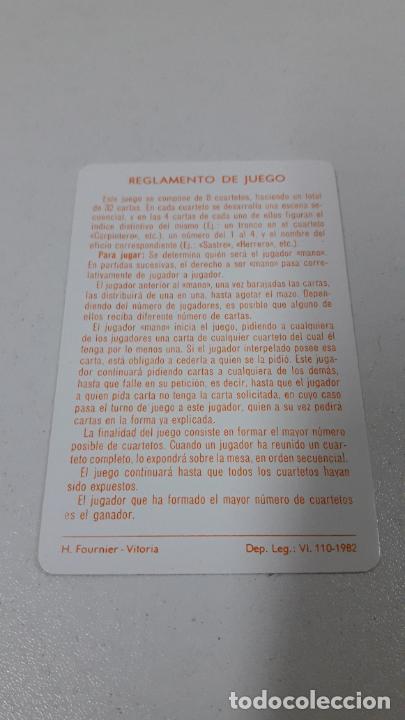 Barajas de cartas: BARAJA INFANTIL EL JUEGO DE LOS OFICICIOS . REALIZADA POR FOURNIER . ORIGINAL AÑOS 80 . SIN USO - Foto 7 - 226776974