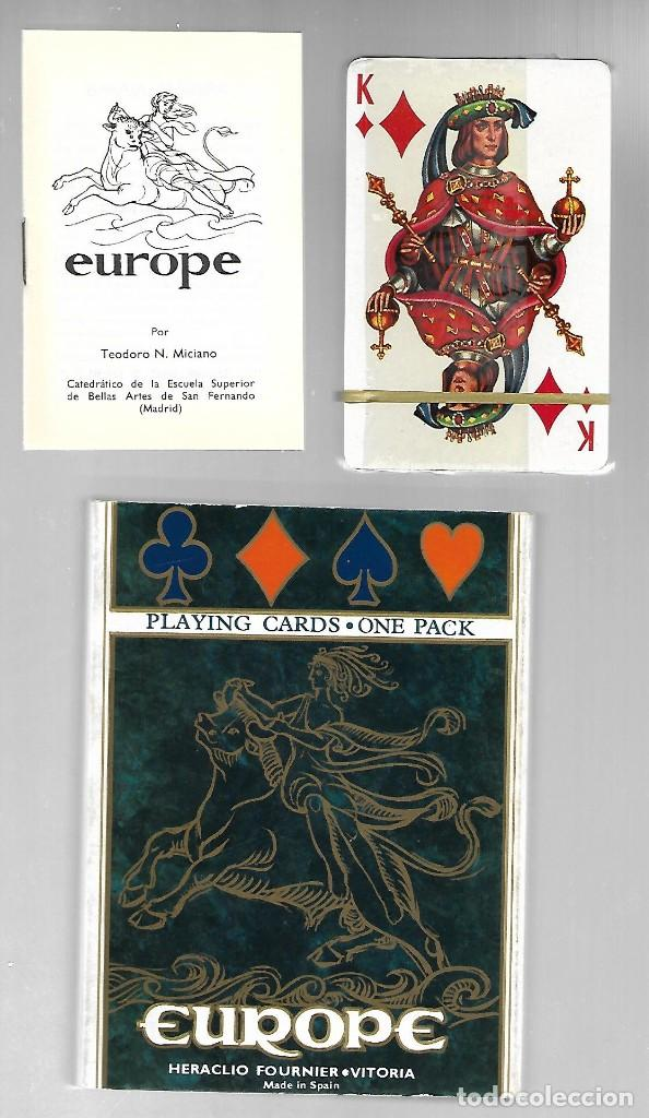 BARAJA EN ESTUCHE, EUROPE, FOURNIER. PRECINTADA CON LIBRITO EXPLICATIVO EN VARIOS IDIOMAS. 1968. (Juguetes y Juegos - Cartas y Naipes - Barajas de Póker)