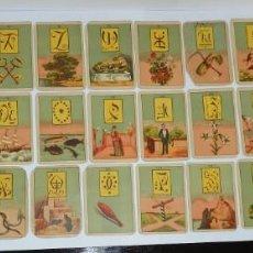 Barajas de cartas: ANTIGUA BARAJA DE TAROT COMPLETA CON 36 CARTAS, TAL Y COMO SE VEN EN LAS FOTOGRAFIAS PUESTAS.. Lote 226830805