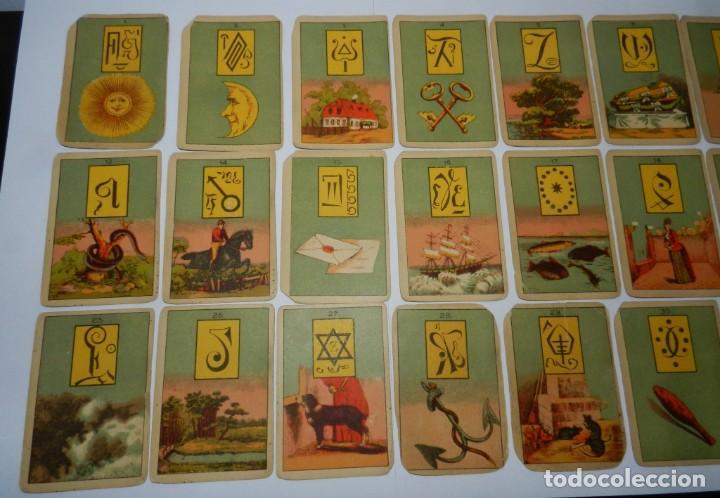 Barajas de cartas: ANTIGUA BARAJA DE TAROT COMPLETA CON 36 CARTAS, TAL Y COMO SE VEN EN LAS FOTOGRAFIAS PUESTAS. - Foto 2 - 226830805