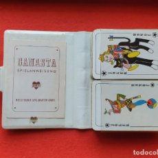 Barajas de cartas: ESTUCHE CANASTA 2 BARAJAS INGLESAS MARCA JOKER ALEMANIA NAIPES ANTIGUOS. Lote 226857230