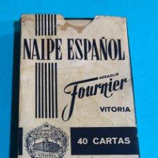 Barajas de cartas: BARAJA DE NAIPES ESPAÑOL. HERACLIO FOURNIER. PUBLICIDAD BOBADILLA JEREZ.. Lote 226887115