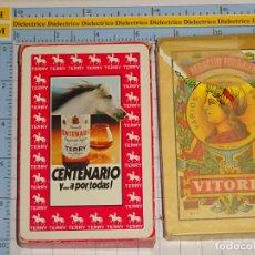 Mazzi di carte: BARAJA DE CARTAS ESPAÑOLA. FOURNIER. CENTENARIO TERRY BRANDY. SEMI PRECINTADA. 100GR. Lote 227098025