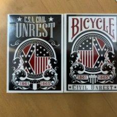 Barajas de cartas: BICYCLE CIVIL UNREST DECKS LIMITED EDITION. BARAJA NAIPES. Lote 227653055