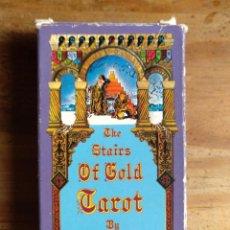 Barajas de cartas: THE STAIRS OF GOLDEN TAROT, TAVAGLIONE. 78 CARTAS. ESPECIAL COLECCIONISTA. Lote 227745255