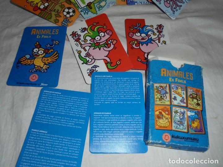 BARAJA ANIMALES EN FAMILIA KUKUXUMUSU FOURNIER COMPLETA (Juguetes y Juegos - Cartas y Naipes - Barajas Infantiles)