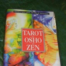 Barajas de cartas: BARAJA TAROT OSHO ZEN + LIBRO EXPLICATIVO - OCASION - A FALTA DE UNA CARTA DEL MAZO 7-AZUL. Lote 228292448