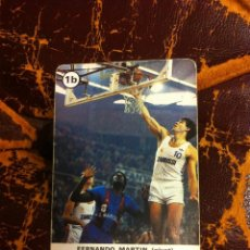 Mazzi di carte: CARTA DE BARAJA (ASES DEL BALONCESTO) FERNANDO MARTÍN. Lote 228320480