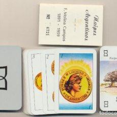 Barajas de cartas: BARAJA ESPAÑOLA. 50 CARTAS (SOLO TIENE 47 CARTAS). NAIPES ARGENTINOS F. MOLINA CAMPOS 1959. SIN USAR. Lote 245409555