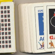 Baralhos de cartas: BARAJA ESPAÑOLA. 50 CARTAS. PUBLICIDAD DE PASTAS GALLO Y ÁGUILA. NAIPES SIN USAR. Lote 228400065
