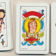 Jeux de cartes: BARAJA ESPAÑOLA. CARICATURAS DE DEPORTISTAS. 50 CARTAS. EDICIONES AMAIKA 1975. SIN USAR. Lote 228400550