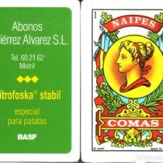 Barajas de cartas: ABONOS - BASF - BARAJA ESPAÑOLA DE 40 CARTAS. Lote 228453795
