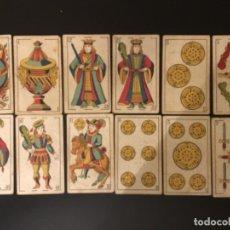 Barajas de cartas: NAIPES COMAS EL PERIQUITO 11 CARTAS FINALES DEL SIGLO XIX. Lote 228805125