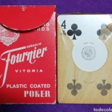 Barajas de cartas: NAIPES POKER (CARTAS) FOURNIER - PUBLICIDAD BRONCES MESTRE S.A - PRECINTADA. Lote 229104540