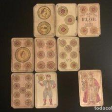 Barajas de cartas: NAIPE BARAJA LA FLOR DE CADIZ VIUDA DE ROURA Y PRESAS AÑO 1915. Lote 229375310