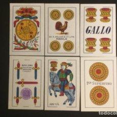 Barajas de cartas: NAIPES BARAJA HIJA DE COMAS AÑO 1947 MARCA GALLO 40 CARTAS TIMBRE MORADO EXPORTACION. Lote 229580510