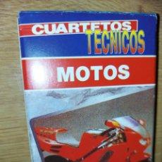 Jeux de cartes: BARAJA DE CARTAS MOTOS CUARTETOS TECNICOS. HERACLIO FOURNIER.. Lote 229590785