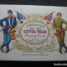 Barajas de cartas: BARAJA POKER. GUERRA CIVIL AMERICANA. FOURNIER 1981. Lote 229743325