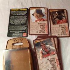 Mazzi di carte: ANTIGUO LOTE DE CARTAS DE INDIANA JONES DE TOP TRUMPS COMPLETA 30 CARTAS. Lote 229804750