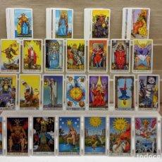 Barajas de cartas: TAROT DE WAITE COMPLETO 78 NAIPES CARTAS MUY BUEN ESTADO. Lote 230916465