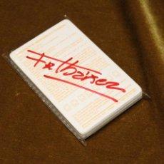 Barajas de cartas: BARAJA DE MORTADELO Y FILEMÓN. AUTÓGRAFO ORIGINAL DE IBÁÑEZ SOBRE FUNDA DE PLÁSTICO.. Lote 231161810