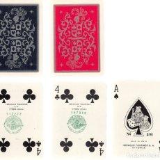Barajas de cartas: DOBLE BARAJA CARTAS PÓKER Nº400. FOURNIER. COMPLETAS. CONTIENEN ESTUCHE DE PIEL.. Lote 231618310