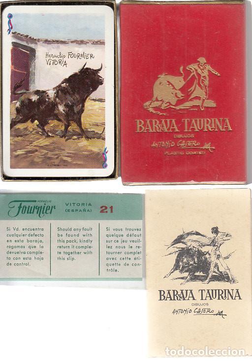 BARAJA PÓKER. TAURINA. DIBUJOS ANTONIO CASERO. FOURNIER. COMPLETA. (Juguetes y Juegos - Cartas y Naipes - Barajas de Póker)