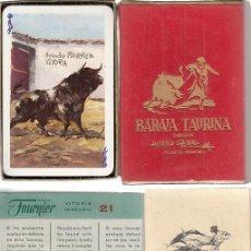 Barajas de cartas: BARAJA PÓKER. TAURINA. DIBUJOS ANTONIO CASERO. FOURNIER. COMPLETA.. Lote 231621655