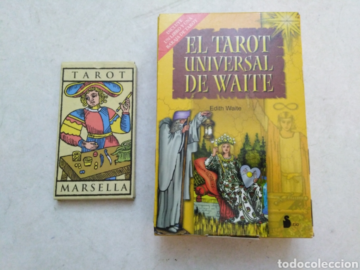 LOTE DEL TAROT ( TAROT MARSELLA Y EL TAROT UNIVERSAL DE WAITE ) (Juguetes y Juegos - Cartas y Naipes - Barajas Tarot)