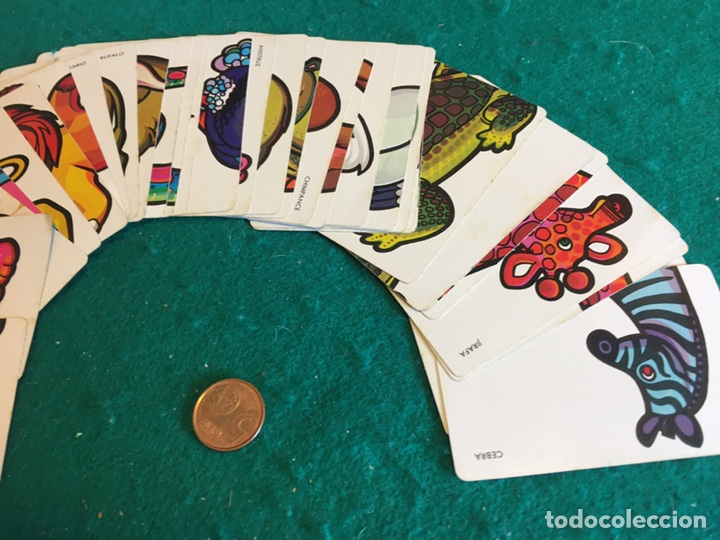 Barajas de cartas: Antigua baraja de cartas ANIMALES LOCOS 32 cartas Fournier - Foto 9 - 231776285