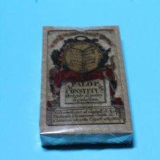 Barajas de cartas: BARAJA DE LA CONSTITUCION DE CADIZ (1822). REPRODUCCION FOURNIER DE 2004. PERFECTA. ESTUCHE.. Lote 231839025